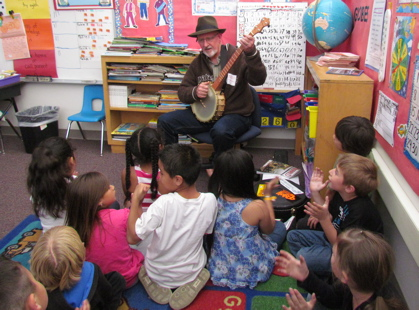 Playing for the first grade class.